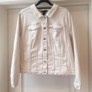 Lane Bryant 22 ivory denim jacket